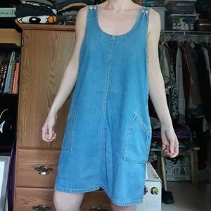 90s Jean Pinafore Dress